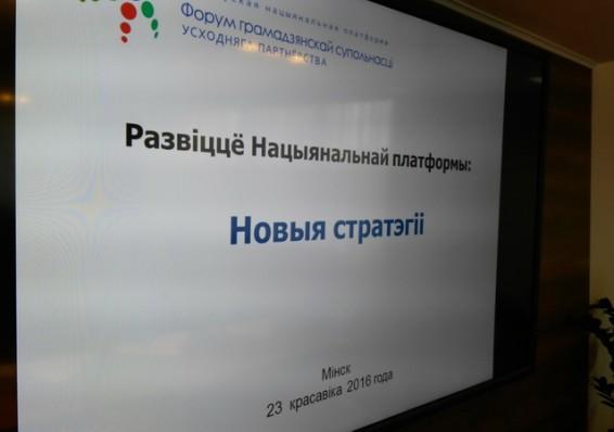 Беларуская нацыянальная платформа выказвае гатоўнасць да новых фарматаў супрацоўніцтва з ЕС і дзяржаўнымі ўладамі